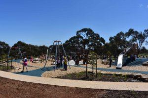 A playground full of kids